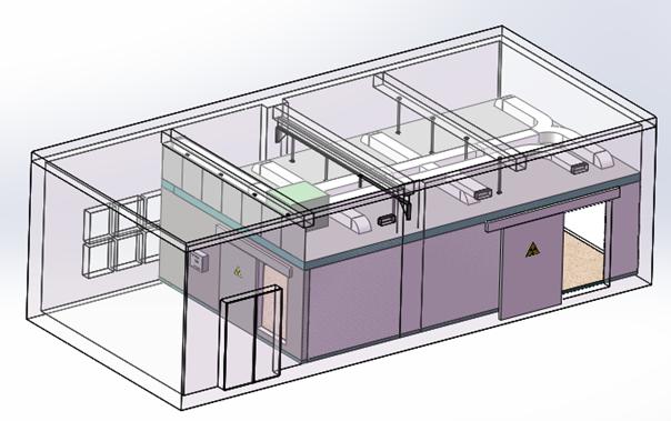 信息工程大学CT设备间X射线屏蔽工程